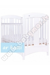 Drewex NATALIA white 60x120 Baby bed 3 levels
