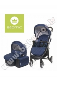 4baby ATOMIC DUO 2017 navy blue Universālie rati 2in1