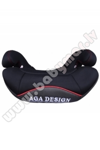 AGA DESIGN BRAITON Booster 15-36 kg Autokrēsls black